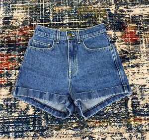 Charcoal High Waisted Shorts American Apparel size 25