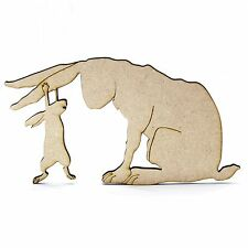 Small Guess How Much I Love You Wooden/MDF Shape. Nutbrown Hare.