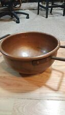 HUGE Antique Vintage  COPPER Pot , Kettle  Apple Butter Chocolate Candy