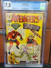 AVENGERS #2!! MARVEL  1963 CGC 7.5   SIGNED BY STAN LEE 1991 BEAUTIFUL SIGNATURE