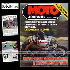 MOTO JOURNAL N°308 TRIAL BERNIE SCHREIBER HONDA CB 125 S3 CHALLENGE RC 500 1977