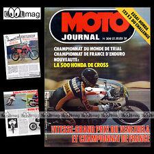 MOTO JOURNAL N°308 RC 500 M HONDA CB 125 S3 CHALLENGE TRIAL YRJO VESTERINEN 1977