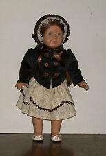 American Girl Doll 1850s Historical Dress, Waistcoat, and Bonnet