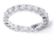 1.91 carat Round Diamond Ring Platinum Eternity Band F Vs Size 6.5 0.10 ct each