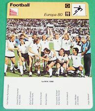 FOOTBALL FUSSBALL DEUTSCHLAND BRD EURO 80 MANNSCHAFT
