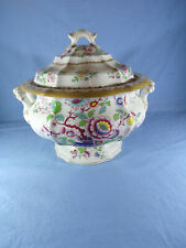 More details for antique 1820-1840 rare probably william ridgway pottery lidded soup tureen