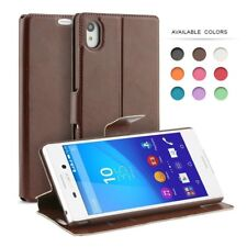 Sony Xperia M4 Aqua Flip Case, PU Leather Slim Flip Wallet Case Cover for Sony X