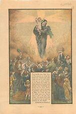 Noël Enfants Enfant-Dieu Jésus Christ Sainte Marie Religion Catholique 1936