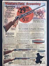 "1930 Western Field BROWNING 30 Shotgun 2c PRINT AD Collectible 9x13-1/4"" MWC 312"