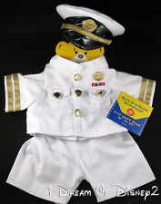 NEW BUILD-A-BEAR US NAVY OFFICER WHITE DRESS MILITARY TEDDY UNIFORM OUTFIT & HAT
