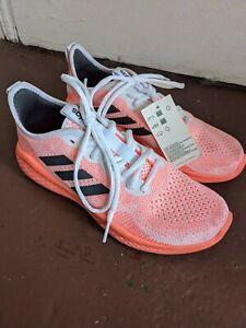 Adidas Women's Fluidflow EG3675 Gray Orange Running Shoes Lace Up Size 7.5