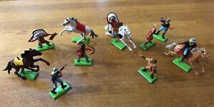 Vintage Lot-10 1971 Deetail Britains Ltd Cavalry Cowboys & Indians Toy Figures