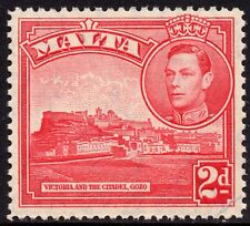 Malta 1938 2d Scarlet Definitive SG 221b UNMOUNTED MINT