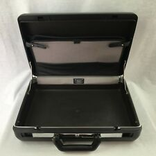 Vintage Samsonite Regent Black Hard Shell Attache Briefcase 1989 USA No Key