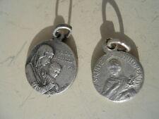 2 anciennes petite médaille religieuse décor Sacré Coeur et st Philomene