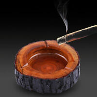 4.7'' Round Wooden Cigarette Ashtray Outdoor Indoor Smoking Tray Tobacco tray