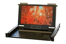 "Norco 19"" 1U (Short Depth) Rackmount 8-Port KVM console +19"" LCD + PS/2 & USB"