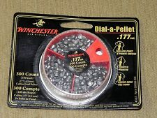 WINCHESTER .177 Cal 300 DIAL-A- PELLETS 100 ea Hollow Point, Pointed, Round Nose