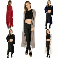 NEW LADIES OPEN FRONT CARDIGAN LONG SLEEVES CHIFFON CASUAL COAT AND JACKET
