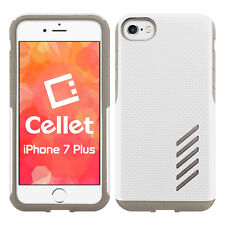 Cellet Dual Layer Anti-Slip Aviator Case for iPhone 7 & 8 Plus – White/Gray