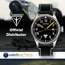 JUNKERS COCKPIT 6144-3 QUARTZ WATCH with SWISS RONDA MOVEMENT 50M WR BLACK DIAL