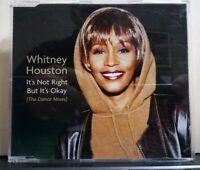 WHITNEY HOUSTON IT'S NOT RIGHT BUT IT'S OKAY - 4 TRACKS VERSION. CD slim case