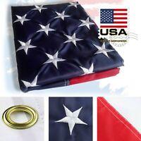 Embroidered Stars American Flag USA US U.S. Sewn Stripes Brass Gromm Nylon Heavy