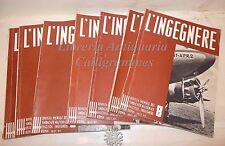 7 Numeri Rivista INGEGNERIA Architettura: L'INGEGNERE 1937 Sindacato Fascista
