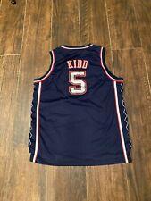 New listing New Jersey Nets #5 Jason Kidd NBA Authentics Jersey Reebok size Youth XL (18-20)