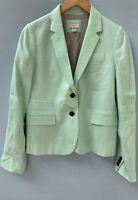 J Crew Schoolboy Blazer 6 Heathered Green Jacket Linen Cotton Blend Factory