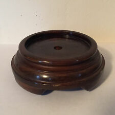 Carved Wood Display Stand for Chinese Kangxi Porcelain Vase Lamp Base Mahogany