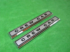 NEW 1970 1971 1972 Ford F250 F350 Crew Cab Cowl Emblem Pair L@@K CREWCAB 4 Door