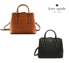 NWT KATE SPADE NEW YORK Larchmont Evangelie Crossbody Black Cognac WKRU5376 NEW