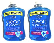 Clean & Protect Anti Bacterial Fresh Clean Handwash Vegan,2 Pack, 650ml Free P+P