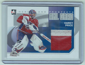 2010 In The Game Heroes And Prospects Silver Carey Price 2CL Jersey