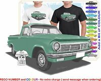 CLASSIC 63-65 EH HOLDEN UTE ILLUSTRATED T-SHIRT MUSCLE RETRO SPORTS