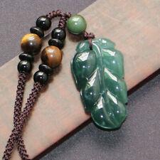天然A货缅甸翡翡翠树叶吊坠女项链挂件 Genuine A Grade Jadeite carving handmade Jade pendant