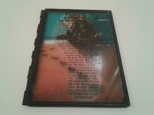 Footprints In The Sand Plaque Print Stained Poem God Jesus Christ Holy Spirit