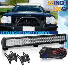 25inch LED Light Bar Spot Flood Combo FIT Ford Jeep Wrangler JK SUV UTE