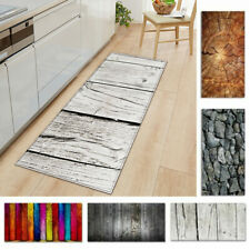 Non-slip Kitchen Carpet Wood Grain Printed Floor Mat For Living Room Door Mats