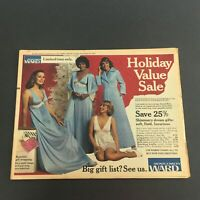 VTG November 27 1977 Montgomery Ward Holiday Value Sale Circular Advertising Ads