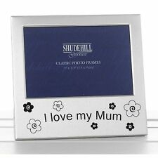 """I Love My Mum Silver Colour Photo Frame Christmas Birthday Mothers day Gift 5x3"""""""