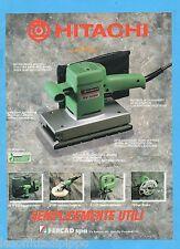 QUATTROR993-PUBBLICITA'/ADVERTISING-1993- HITACHI - SV 12SD LEVIGATRICE ORBITALE