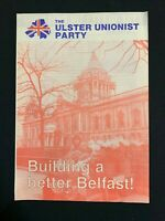 Vintage 1980s Ulster Unionist Party Leaflet - Building a better Belfast