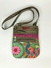 Desigual Crossbody Bag Canvas Multi Colored Canvas Embroidered Adjustable Strap