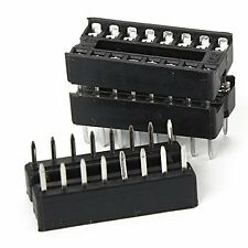 50 Pcs New 16 Pin 16pin Dip Ic Sockets Adaptor Solder Type New