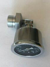 1969-1978 cb750 honda oil pressure gauge kit w/ CARBON FIBER face gauge cb 750