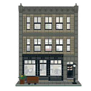 Modular Black Velvet with Cafe and Courtyard Building Bricks 2956 Pieces Parts