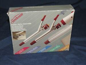 VINTAGE SUNBEAM CURLER/STYLER ENSEMBLE CASE  Barrel Brush curling iron
