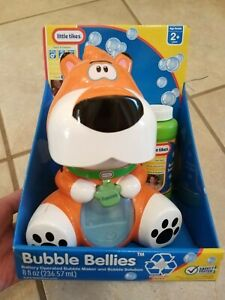 New Little Tikes Bubble Bellies Battery Operated Bubble Maker Pawzee Tiger Rare